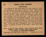 1941 Gum Inc. Uncle Sam Home Defense #63  Field Radio  Back Thumbnail
