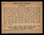 1941 Gum Inc. Uncle Sam Home Defense #91   The Loop Back Thumbnail