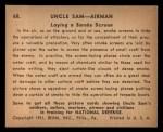 1941 Gum Inc. Uncle Sam Home Defense #68   Laying Smoke Screen Back Thumbnail