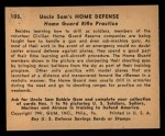 1941 Gum Inc. Uncle Sam Home Defense #105  Home Guard Rifle Practice  Back Thumbnail