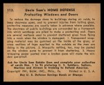 1941 Gum Inc. Uncle Sam Home Defense #113   Protecting Windows And Doors Back Thumbnail