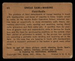 1941 Gum Inc. Uncle Sam Home Defense #63  Field Radio  Back Thumbnail