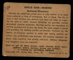 1941 Gum Inc. Uncle Sam Home Defense #65  National Disasters  Back Thumbnail