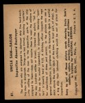 1941 Gum Inc. Uncle Sam Home Defense #81  Inspection Aboard Destroyer  Back Thumbnail