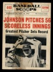1961 Nu-Card Scoops #440   Walter Johnson   Front Thumbnail