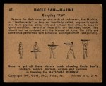 1941 Gum Inc. Uncle Sam Home Defense #61   Keeping Fit Back Thumbnail