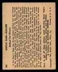 1941 Gum Inc. Uncle Sam Home Defense #83  School For Divers  Back Thumbnail