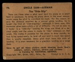 1941 Gum Inc. Uncle Sam Home Defense #70   The Side Slip Back Thumbnail