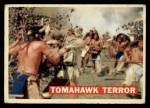 1956 Topps Davy Crockett #17 ORG Tomahawk Terror   -     Front Thumbnail