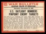 1965 Philadelphia War Bulletin #30  We're Hit!  Back Thumbnail