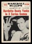 1961 Nu-Card Scoops #435  3 Wins  -   Lew Burdette Front Thumbnail