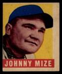 1949 Leaf #46   Johnny Mize Front Thumbnail
