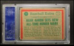1975 Topps #1   -  Hank Aaron Aaron Sets Homer Mark Back Thumbnail