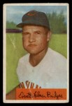 1954 Bowman #156 ALL Rocky Bridges  Front Thumbnail