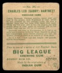 1933 Goudey #202  Gabby Hartnett  Back Thumbnail