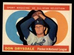 1960 Topps #570   -  Don Drysdale All-Star Front Thumbnail