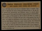 1960 Topps #466   -  Ken Silvestri / Dick Carter / Andy Cohen Phillies Coaches Back Thumbnail