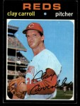 1971 Topps #394   Clay Carroll Front Thumbnail