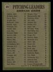 1971 Topps #69  AL Pitching Leaders    -  Mike Cuellar / Dave McNally / Jim Perry Back Thumbnail