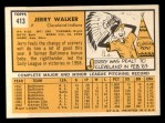 1963 Topps #413 B Jerry Walker  Back Thumbnail