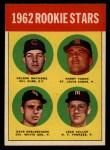 1963 Topps #54 ERR 1962 Rookie Stars  -  Nelson Matthews / Harry Fanok / Jack Cullen / Dave DeBusschere Front Thumbnail