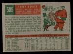 1959 Topps #505  Tony Kubek  Back Thumbnail