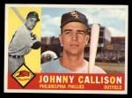 1960 Topps #17   Johnny Callison Front Thumbnail
