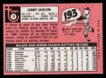 1969 Topps #53  Sonny Jackson  Back Thumbnail
