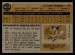 1960 Topps #419   George Crowe Back Thumbnail