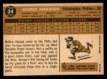 1960 Topps #34   Sparky Anderson Back Thumbnail
