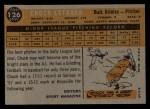 1960 Topps #126  Rookie Stars  -  Chuck Estrada Back Thumbnail