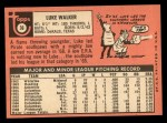 1969 Topps #36  Luke Walker  Back Thumbnail