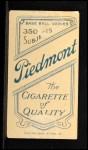 1909 T206 #294  Nick Maddox  Back Thumbnail