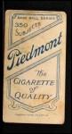 1909 T206 #379  Dode Paskert  Back Thumbnail