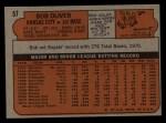 1972 Topps #57   Bob Oliver Back Thumbnail