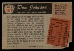 1955 Bowman #101 ERR  Don Johnson Back Thumbnail