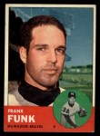 1963 Topps #476  Frank Funk  Front Thumbnail