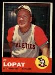 1963 Topps #23   Eddie Lopat Front Thumbnail