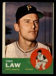 1963 Topps #184  Vern Law  Front Thumbnail