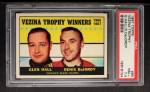 1967 Topps #65  Vezina Trophy  -  Glen Hall / Denis DeJordy Front Thumbnail