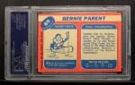1968 #89  Bernie Parent  Back Thumbnail