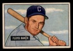 1951 Bowman #87   Floyd Baker Front Thumbnail