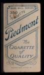 1909 T206 #143 POR Patsy Dougherty  Back Thumbnail