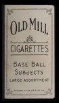 1909 T206 #130  Bill Dineen  Back Thumbnail