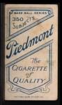 1909 T206 #66   John Butler Back Thumbnail