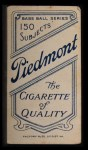 1909 T206 #44   Frank Bowerman Back Thumbnail