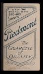 1909 T206 #478 xDOT Lee Tannehill  Back Thumbnail