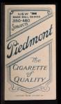 1909 T206 #442 GLV Jimmy Sheckard  Back Thumbnail