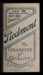 1909 T206 #388  Francis Pfeffer  Back Thumbnail