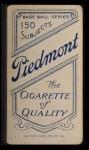 1909 T206 #229  Frank Isbell  Back Thumbnail